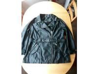 Size 20 peacocks leather look jacket