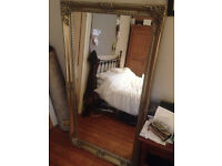 Beautiful Charlotte Pewter Floor Mirror by Next Home (shabby chic style)