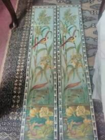 Stovax fireplace tiles birds and lillies