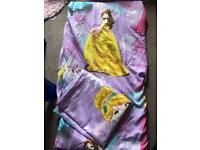 Disney princess single bed cover set