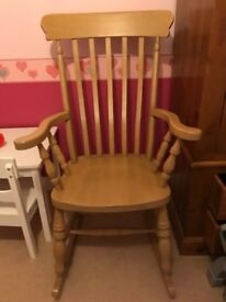 Solid pine rocking chair (very heavy)