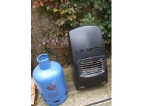 Calor blue flame gas heater with gas bottle