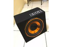 """Edge subwoofer 12"""" 900w 10A fuse and free £30 worth off wires"""