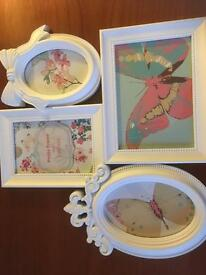 Pretty White Photo Frame