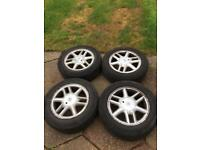 """Set Of 4 x 15"""" alloys with tyres and wheel nuts"""