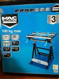 New Unused - MAC ALLISTER FOLDABLE WORKTABLE/WORK BENCH (W)550MM