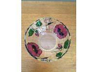 Pansy glass bowl