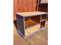 Hand painted pine TV stand, bargain can deliver