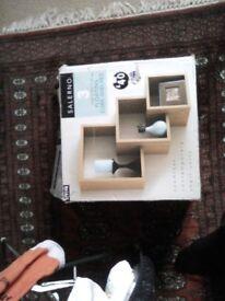 3 Floating Cube Shelves