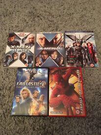 Superhero DVD Collection (X-Men, Fantastic 4, Spiderman)