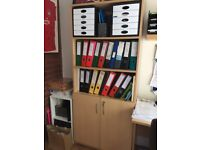 Office shelves with lockable cupboard