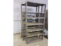 Heavy Duty Industrial Warehouse Racking Shelves in Excellent Condition (x2)