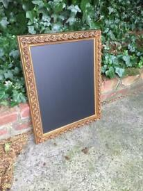 Gold ornate chalkboard Menu blackboard