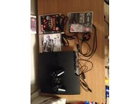 PS3 PLAYSTATION 3 CONSOLE 250GB + 1 OFFICIAL CONTROLLER + 3 GAMES HARDLY USED ** FROM WYMONDHAM **