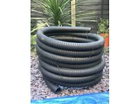 Garden perforated drainage piping 80mm dia x 21m approx FREE