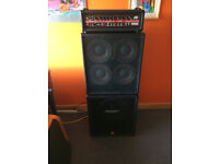 Peavey Firebass 700 Amplifier with Peavey 4x10 and 1x15 speaker cabinets