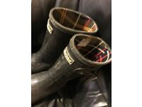 Barbour International Adult Black size 6 wellingtons