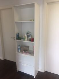 Bookcase in White - Perfect conditions & Shoe storage dark Ivory