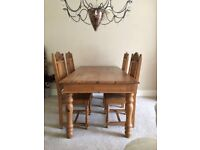 Gothic table, chairs & dresser *Good Painting Project* *Collection only*