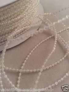 2mm 3mm 4mm 8mm Pearls String Beads Sewing Trim Cake Craft Wedding Bridal