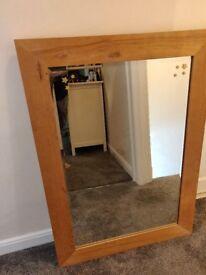 Large Solid Oak Mirror - £55