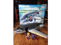 Playmobil Jet Airliner in box with instructions. 100% complete with all characters and accessories.