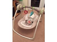 Bright Starts Cosy Kingdom Portable Baby Swing