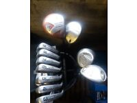 Full set of Topflite irons and various woods