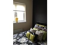Fabulous condition faux leather double bed