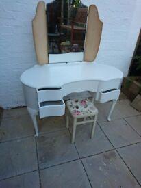 Shabby chic dresser table stool
