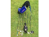 WEB GOLF SET BARELY USED LEFT HANDED CLUBS JUNIOR +EXTRAS