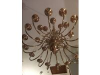 Chandelier in Solid Brass