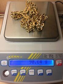 Gold chain 14 k
