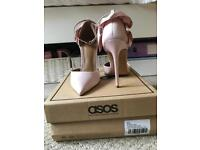 SIZE 2/3 ASOS pink/nude heels. **NEVER WORN** only £20
