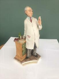 Capodimonte Porcelain Statue of Pharmacist .