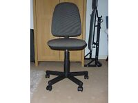 Office chair- 3 way adjustable in black and grey. Little used.
