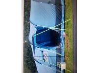 Gelert Horizon 8 tent and equipment. 8 person tent, cooker, stand, tables, hookup cables, bed et ...