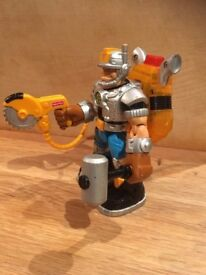 VGC RARE 99/00 Fisher Price Mattel talking JACK HAMMER Rescue Heroes action figure. 6 inch tall