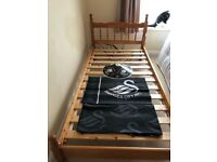 Swansea City bedding for single bed including quilt cover pillow case and matching lampshade £20