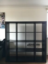 Ikea Kallax 4x4 Square Shelves Shelving Unit Black/Brown RRP: £95