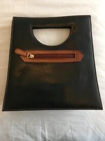 Claire Langford, London dark chocolate leather handbag
