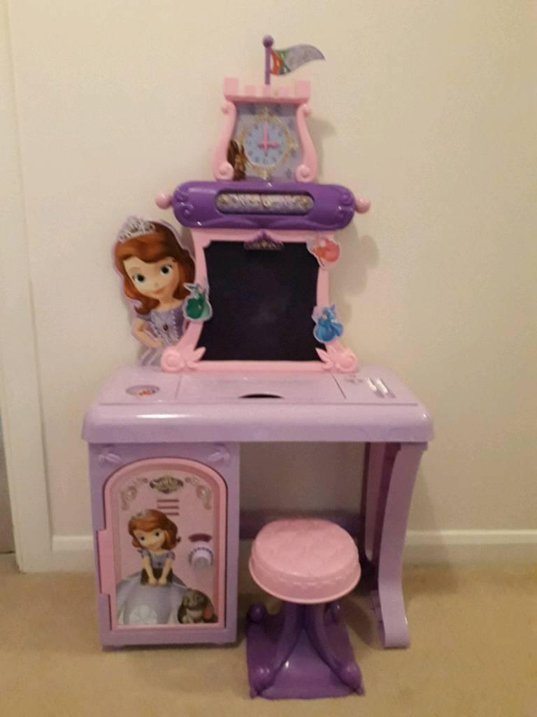 Disney Princess Sofia The First Royal Prep Talking School Desk