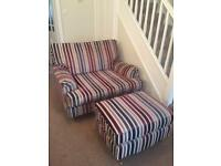 'Next' Snuggle Chair and Footstool