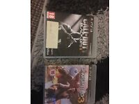 CALL OF DUTY BLACK OPS 2 AND UNCHARTED 3 FOR PS3 10£