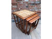 Stunning G Plan Vintage Teak Nest Of Three Coffee Ocasional Side Tables, Retro