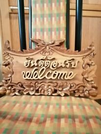 UNUSUAL WELCOME SIGN WRITTEN IN THAI AND ENGLISH