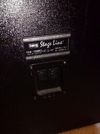 500 watt Stageline speaker cabinets