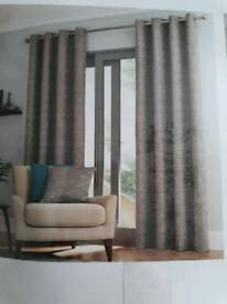 "New Dunelm grey curtains 72"" long"
