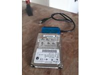 10GB Hard drive with USB adapter