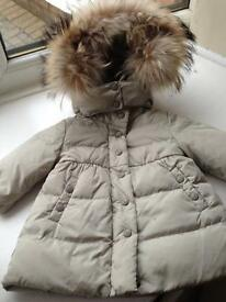 Moncler baby girls cream coat.3 to 6 months authentic.£110